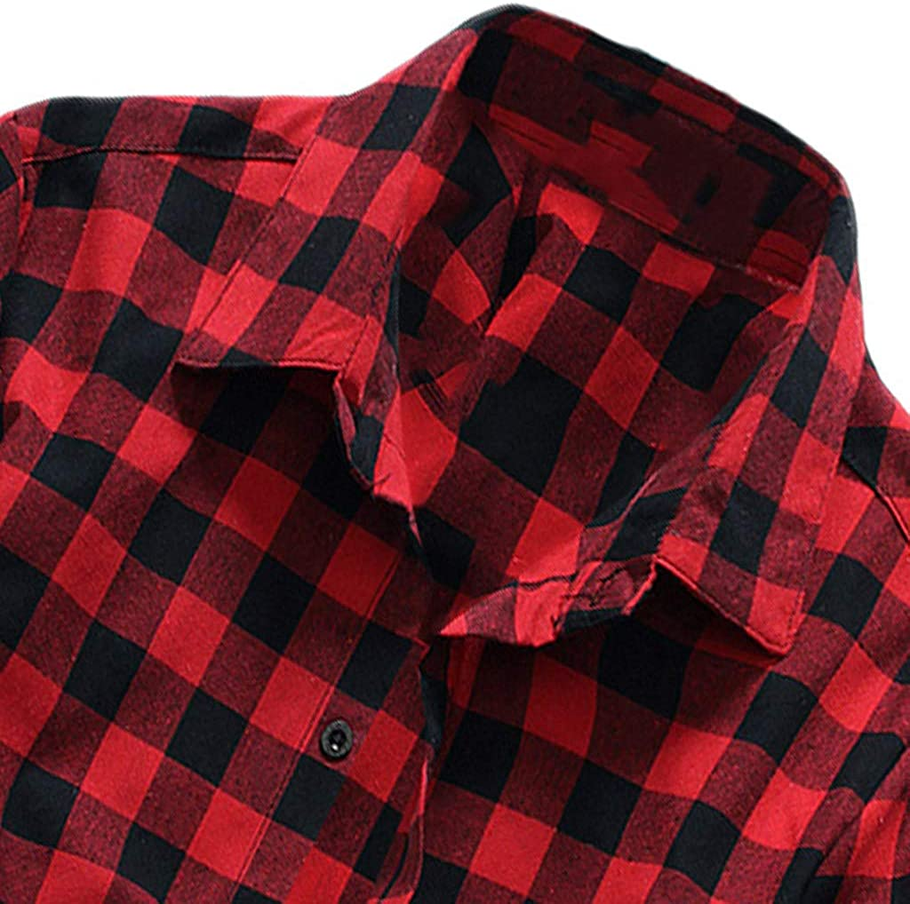Usstore  Men/'s Plaid Short Sleeve Blouse Summer Classic Mandatory Casual Lattice Pinted Daily Cozy Button Top Shirts
