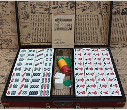 AIBAB Mahjong Set, Azulejos, Juegos De Dominó Y Azulejos Juegos De Mesa Chinos + Manual En Inglés: Amazon.es: Hogar
