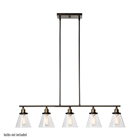Globe Electric 64934 Jackson 5-Light Pendant, Oil Rubbed Bronze Finish