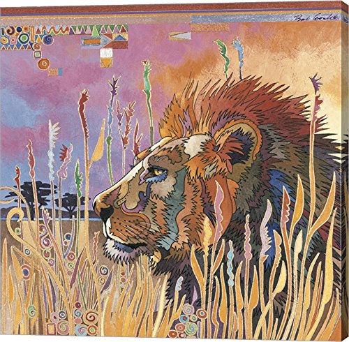 Chobe Park Lion by Bob Coonts Canvas Art Wall Picture