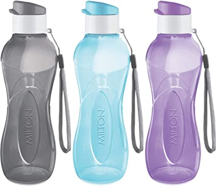 Large Water Drink Bottle Sports Easy Carry Handle Strap Gym Yoga Fitness Bike 1L