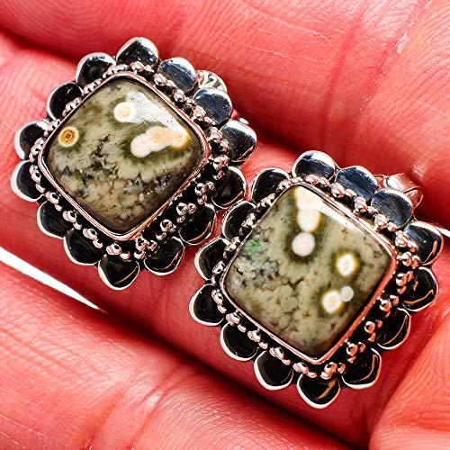 Ana Silver Co Ocean Jasper Earrings 3/4