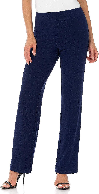 Rekucci Women's Ease into Comfort Soft Knit Classic Straight Leg Pant