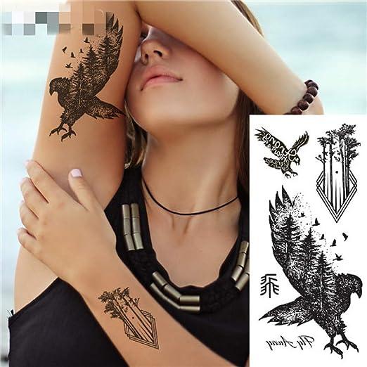 adgkitb 4 Piezas fantasía Color Jirafa Animal Tatuaje Temporal ...