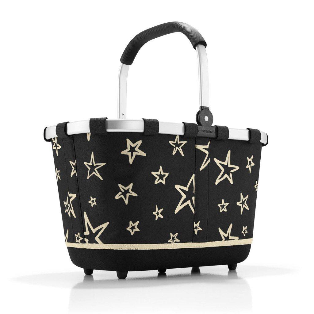 Reisenthel carrybag 2 Stars, Polyester, Schwarz, 48 x 32 cm BL7046
