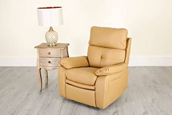 Super Abreo New Padstow Brown Camel Buttoned Recliner 1 2 3 Seater Squirreltailoven Fun Painted Chair Ideas Images Squirreltailovenorg