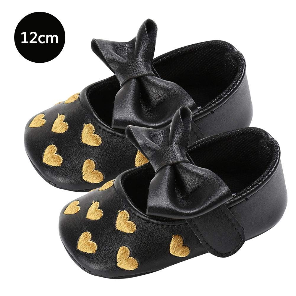 win-full Infant Toddler Baby Girls Mary Slippers Soft Sole PU Leather No-Slip Princess First Walkers Shoes