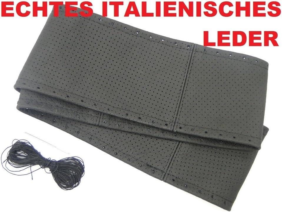 2 X Lenkradbezug Lenkradschoner Schwarz Echt Leder 37 39 Cm Zum Selber Schnüren Top Auto