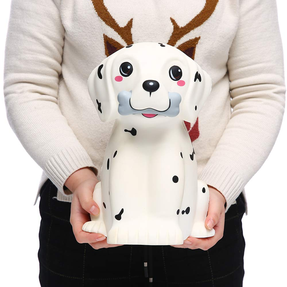 Sinofun 12 Inch Giant Dalmatian Dog Squishy, Large Puppy Animal Scented Squishies Package, Cute Panda Slow Rising Keychain, Soft Stress Relief Toys, Fun Party Favor/Birthday Gifts for Boys/Girls/Kids by Sinofun (Image #6)
