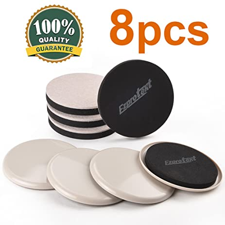 8PCS Furniture Sliders 5u0026quot;Plastic Sliders And Felt Sliders Furniture  Movers For Carpet Hardwood Floor