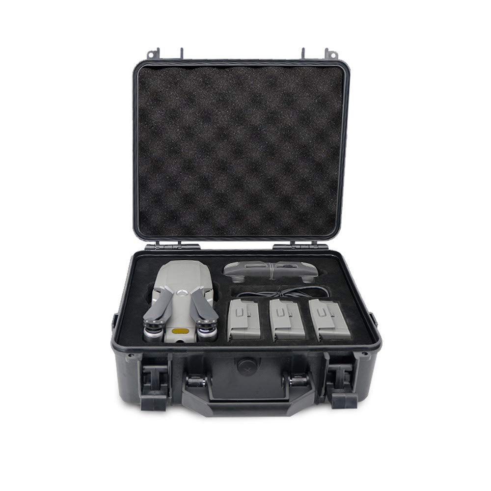 for DJI Mavic 2 Pro/Zoom Drone Carrying Case Hard Waterproof Anti-Shock Weatherproof Portable Travel Military Spec Bag (Black)
