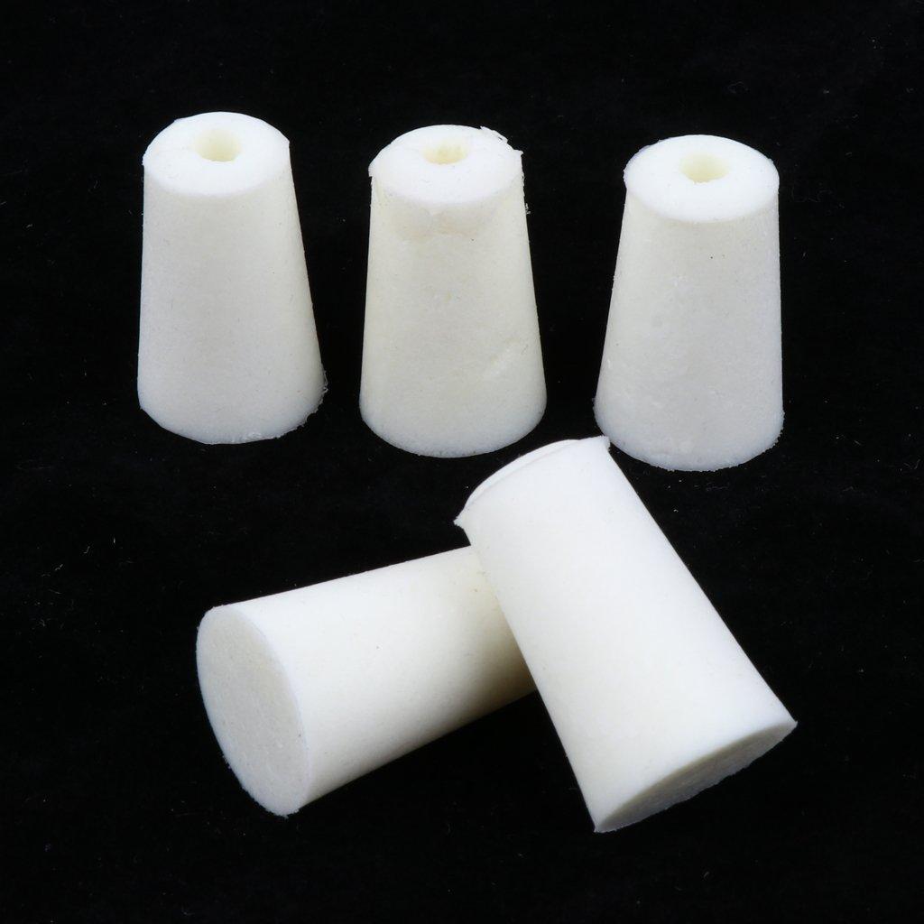11-15mm Shiwaki Bouchons De Bonde De Bouchon De Bouchon De Silicone De 5pieces Pour Des Tubes /à Essai De Fiole