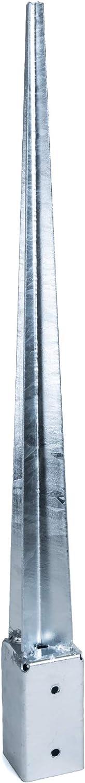 KOTARBAU/® Einschlagbodenh/ülse 51 x 51 mm L/änge 600 mm Pfostentr/äger Feuerverzinkt Einschlagh/ülse f/ür Vierkantholzpfosten Bodenh/ülse Anker Stahl Bodenanker
