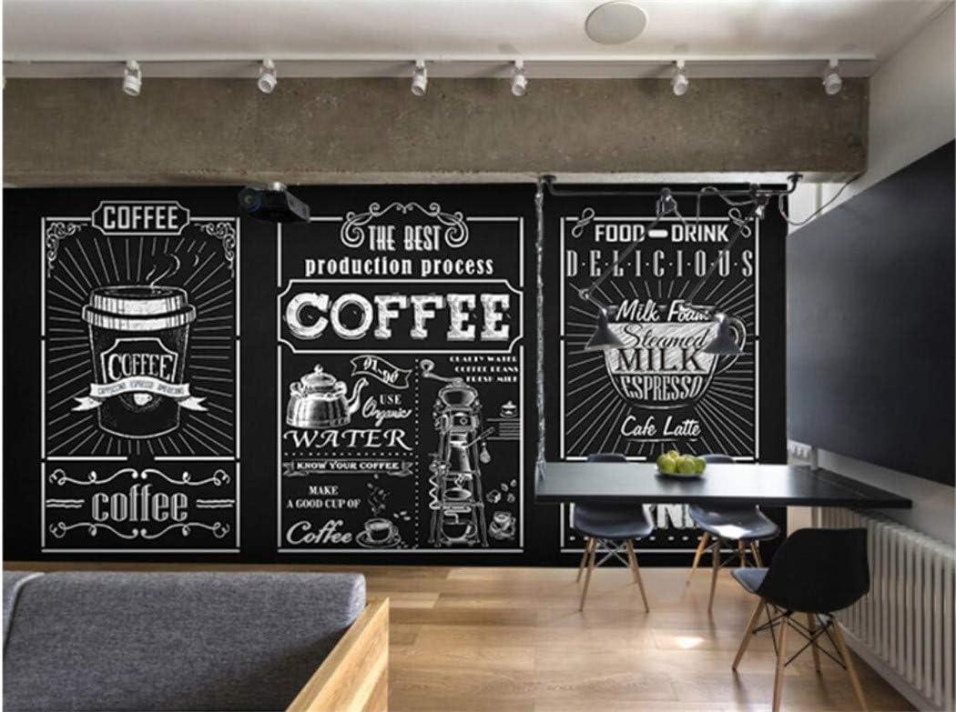 Papel Pintado Papel Tapiz Fotográfico 3D Pizarra Personalizado Mural De La Mano Café Restaurante De Comida Rápida Bar De Leche Tienda De Té Tienda De Papel Tapiz Mural: Amazon.es: Bricolaje y herramientas