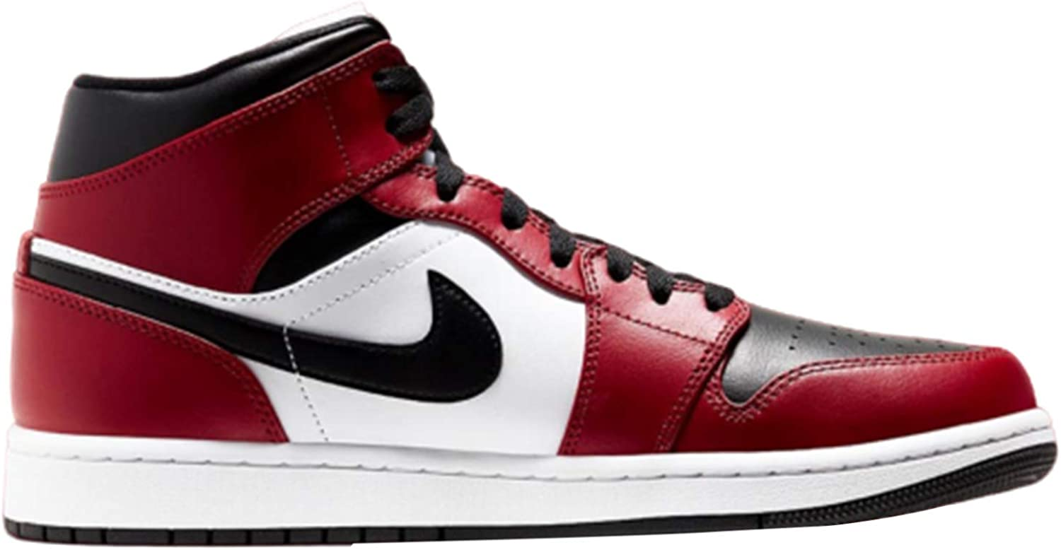 Jordan Nike Air 1 Mid GS Chicago Black Toe 554725-069 Size 4