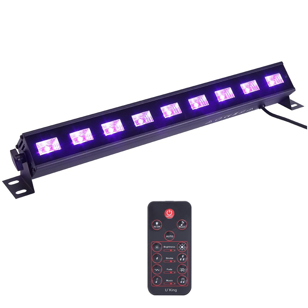 Led Wall Wash Light,UV LED Black Light Bar 3Wx9 LEDs Stage Wall Washer Lighting Remote Control for Disco DJ KTV Club Party 110V US Plug