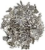 "ECrafty's Silver Pewter Charms Mega Mix. 100 lead and nickel and cadmium-free silver pewter jewelry and craft charms. 1/4 to 1"". Assorted themes. NEW deluxe assortment of solid metal alloy charms in a great array of designs and sizes. Beautif..."
