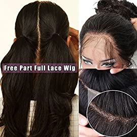 Pre Plucked Full Lace Human Hair Wigs for Black Women Straight Glueless Lace Front Wigs with Baby Hair (12 inch full…