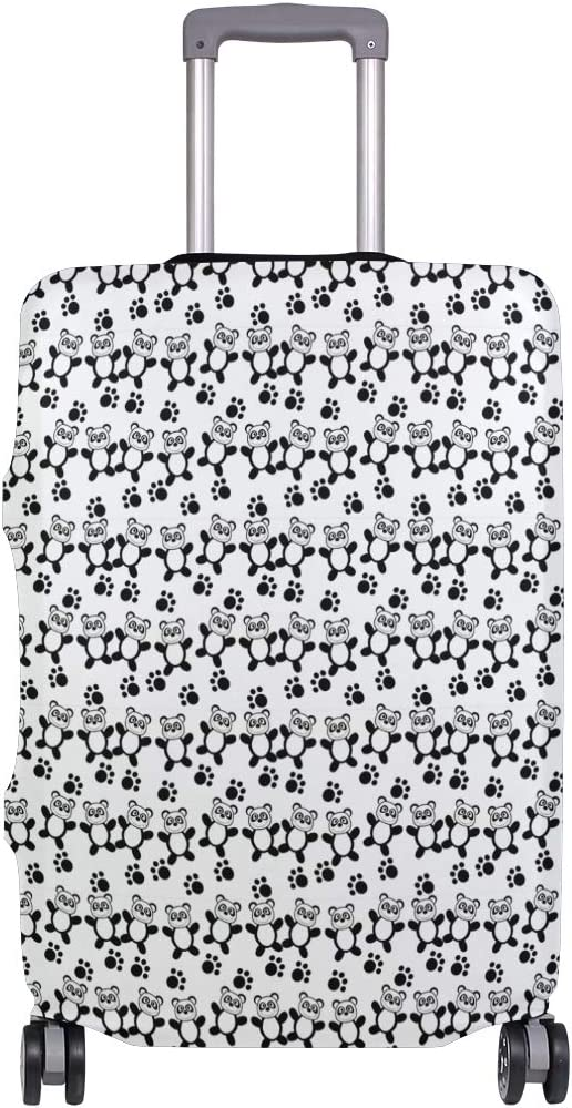 Fashion Travel Panda Bear Paw Luggage Suitcase Protector Washable Baggage Covers
