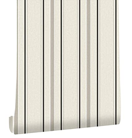 HaokHome 20305 Modern Stripe Wallpaper Grey Black White Textured For Bedroom Accent Wall 208quot