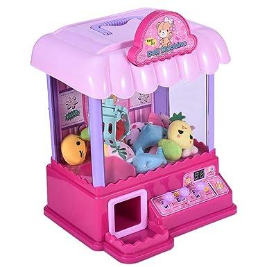 Amazon.com: Máquina de agarrar juguetes de garra rosa súper ...