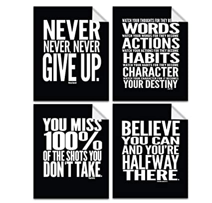 evolve skins motivational quote workout gym posters 8 x 10 set of