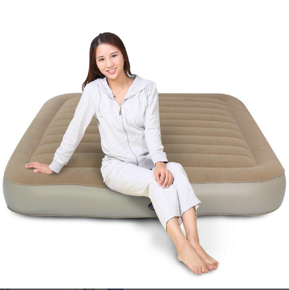 YOPEEN Tragbare, Matratze, aufblasbares Bett, einzeln, Doppelt, Dick, im Freien, Luftbett, aufblasbare Matratze des Haushalts