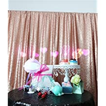 TRLYC 4Ft*6Ft Blush Sequin Backdrop Fabric/Curtain For Wedding