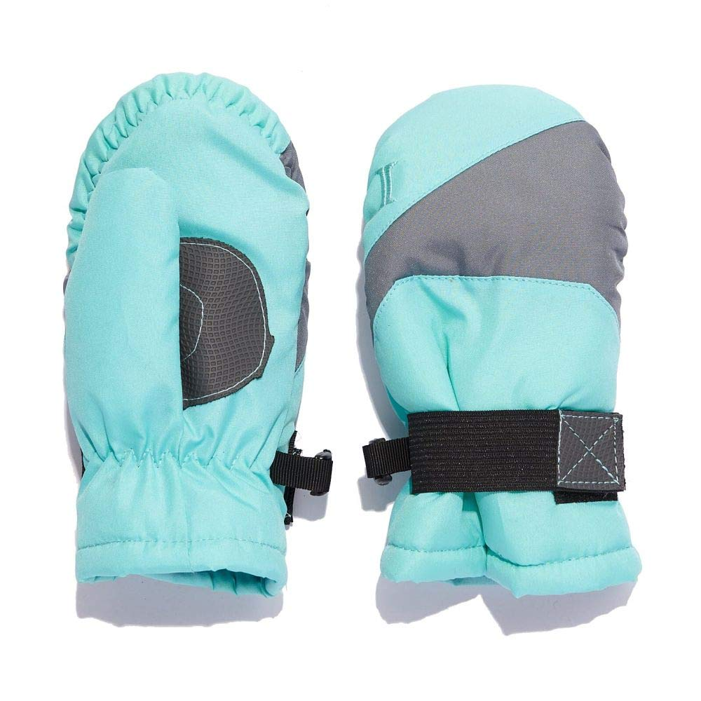 Igloos Girls Gauntlet Waterproof Ski Mittens Kids Insulated for Cold Winter Weather