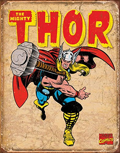 Thor Tin Metal Sign : Retro , 16x13 by Poster Discount
