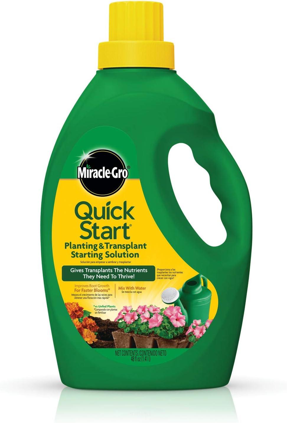 Miracle-Gro Quick Start Planting & Transplant Starting Solution (Liquid), 48 oz.