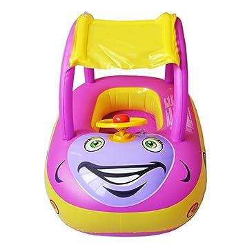 TOAOB Juego de Plein Air tipo de coche flotador bebé flotador barco anillo de natación asiento