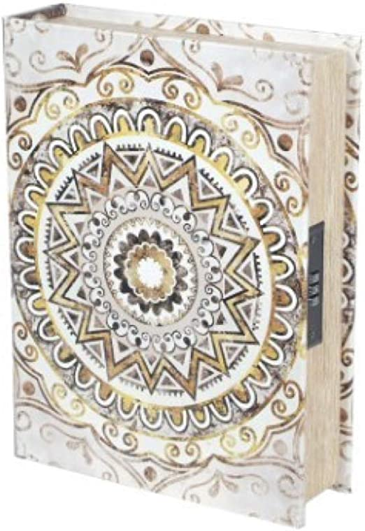 Vidal Regalos Caja Fuerte Forma de Libro Mandala 30x23 cm: Amazon ...