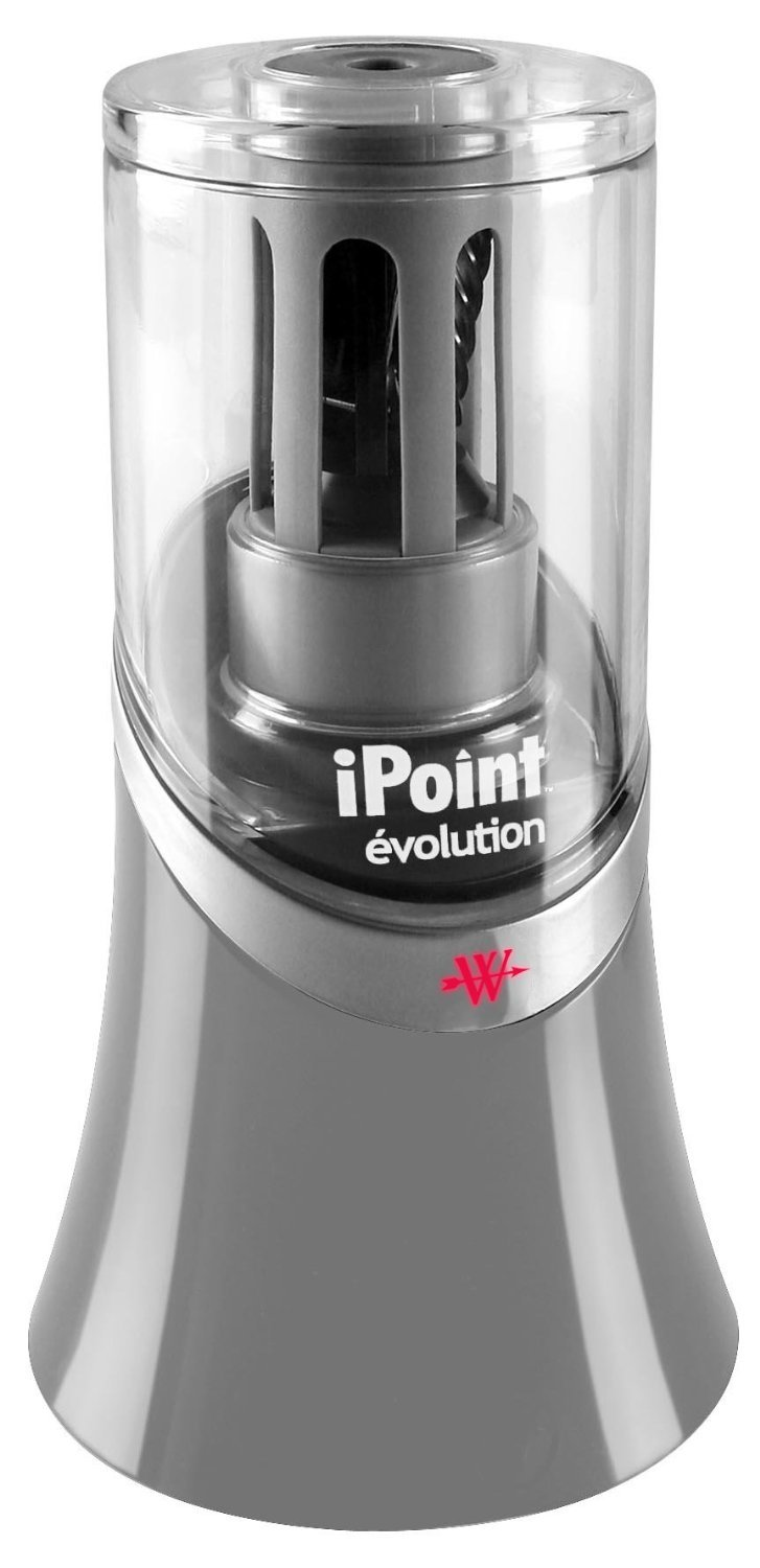 Westcott iPoint Evolution Titanium Bonded Pencil Sharpener, Black/Grey, Case of 12