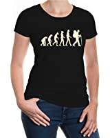 buXsbaum® Girlie T-Shirt The Evolution of Hiking