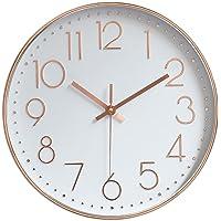 "jomparis Modern 12"" Battery Operated Silent & Non-Ticking Wall Clock"