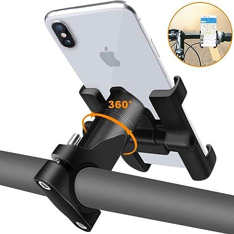 REETEE Soporte Movil Bicicleta, Soporte de Móvil Deportiva con 360 Rotación para iPhone y 4.5