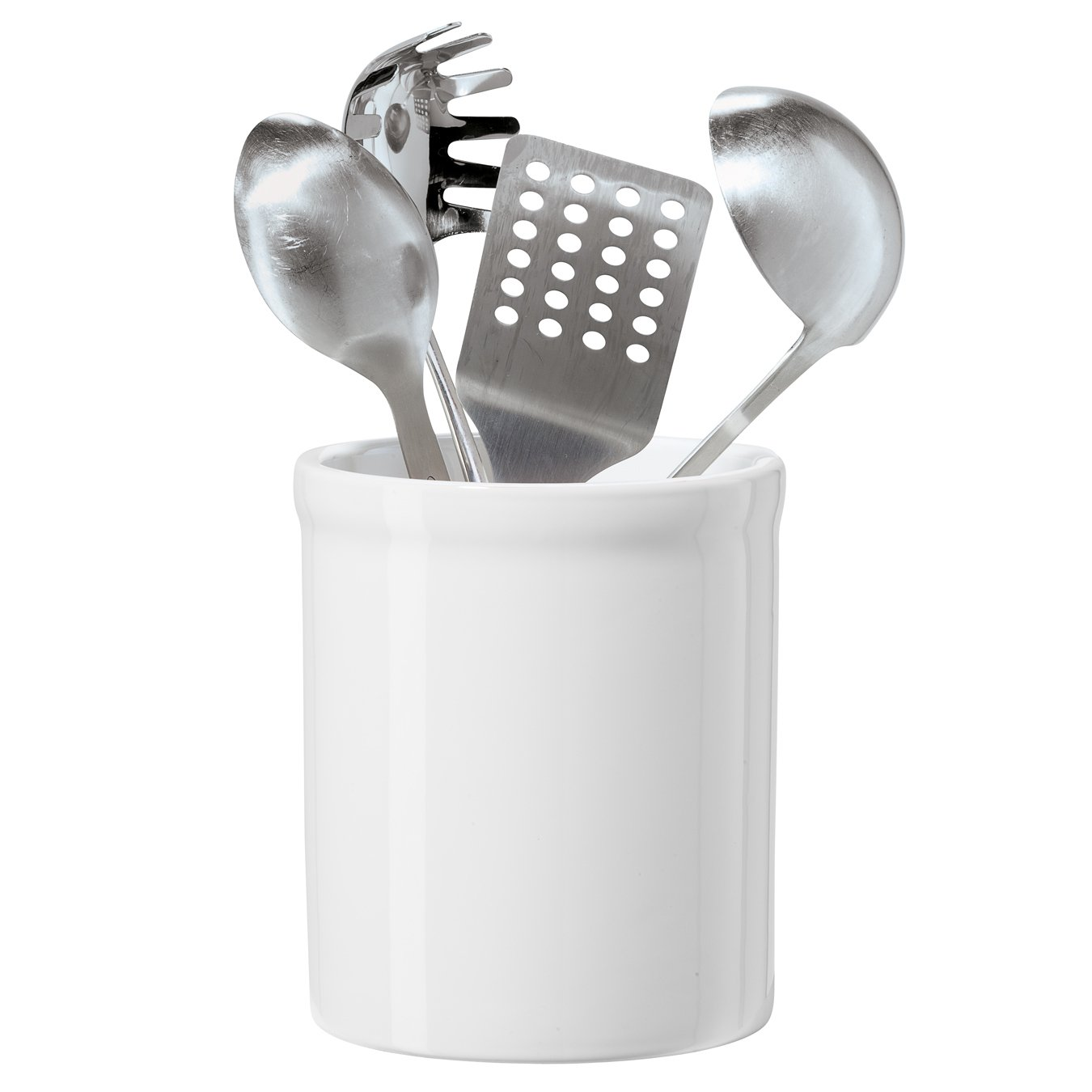 Ceramic Utensil Holder (White) Oggi 5406