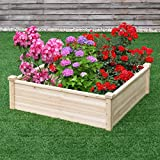 Wooden Garden Bed Vegetable Flower Raised Square Planter Kit Outdoor Garden