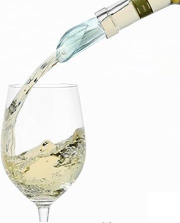 Vertedor de Vino con varilla de enfriamiento 3 en 1. Aireador de vino. Acero inoxidable alimentario.