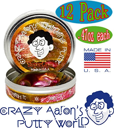Crazy Aaron's Thinking Putty Mini Tin Complete Gift Set with Lizard Lips Hypercolor, 12-Pack by Crazy Aaron's (Image #2)