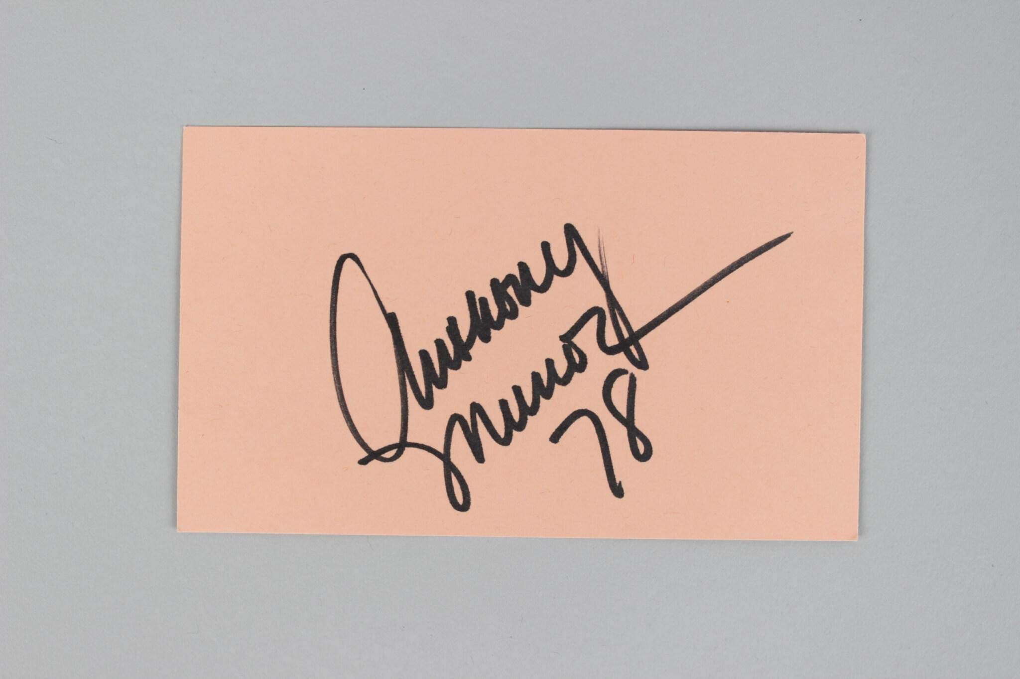 Anthony Munoz Signed Index Card Bengals COA JSA Certified NFL Cut Signatures