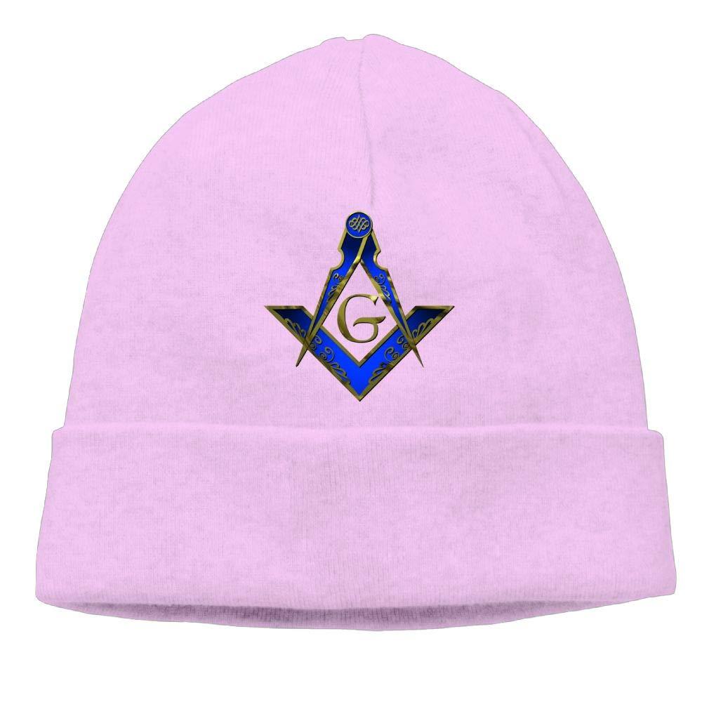 Freemason Square Compass 4 Beanie Cap Knitted Caps Mens