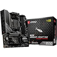 MSI MAG B550M Mortar Motherboard mATX, AM4, DDR4, Dual M.2, LAN, USB 3.2 Gen2, Front Type-C, Mystic Light RGB, HDMI…
