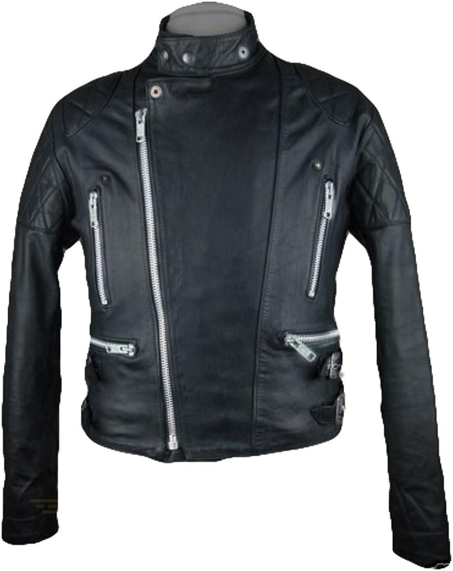 Men Leather Jacket Coat Motorcycle Biker Slim Fit Outwear Jackets T1158