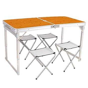 Mesa plegable Mesa plegable reforzada constante al aire libre Mesa ...