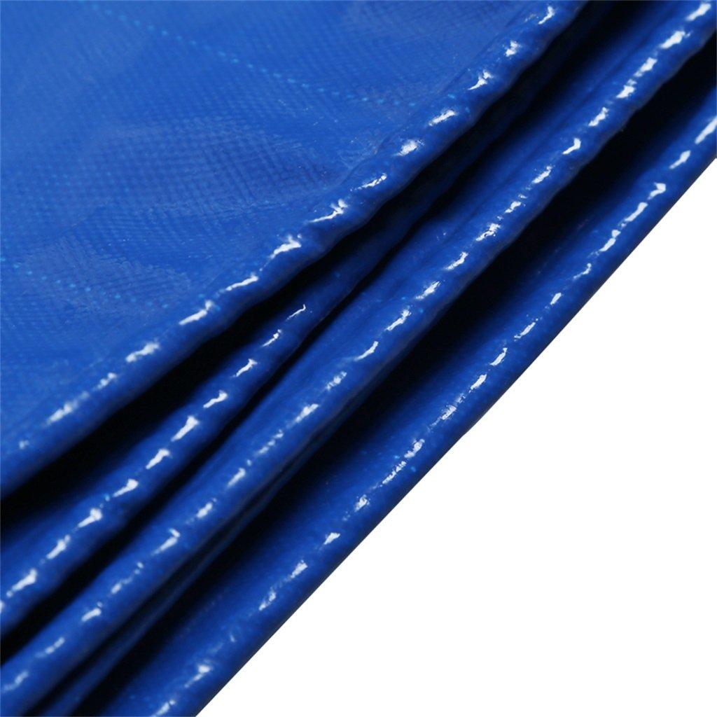 Zelt Zubehör Plane Blaue Plane-Schatten-Stoff-Segeltuch-leistungsfähiger wasserdichter Sonnenschutz benutzt im Poncho-Familien-kampierenden Garten draußen Regen-Stoff, Stärke 0.4mm, 450g / m2, 7 Größe