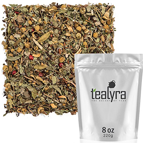 Tealyra - Tranquil Dream - Chamomile Honeybush Lavender - Calming - Relaxing - Herbal Loose Leaf Tea - Caffeine-Free - All Natural - 220g (8-ounce)