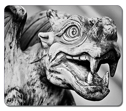 Extra Large Mouse Mat 12.87x11.02x0.15 IN - Gaming Mouse Pad - Personalized Gargoyle Natural Eco Rubber Oblong MousePad Computer Desk Stationery Accessories Mouse Pads For Gift