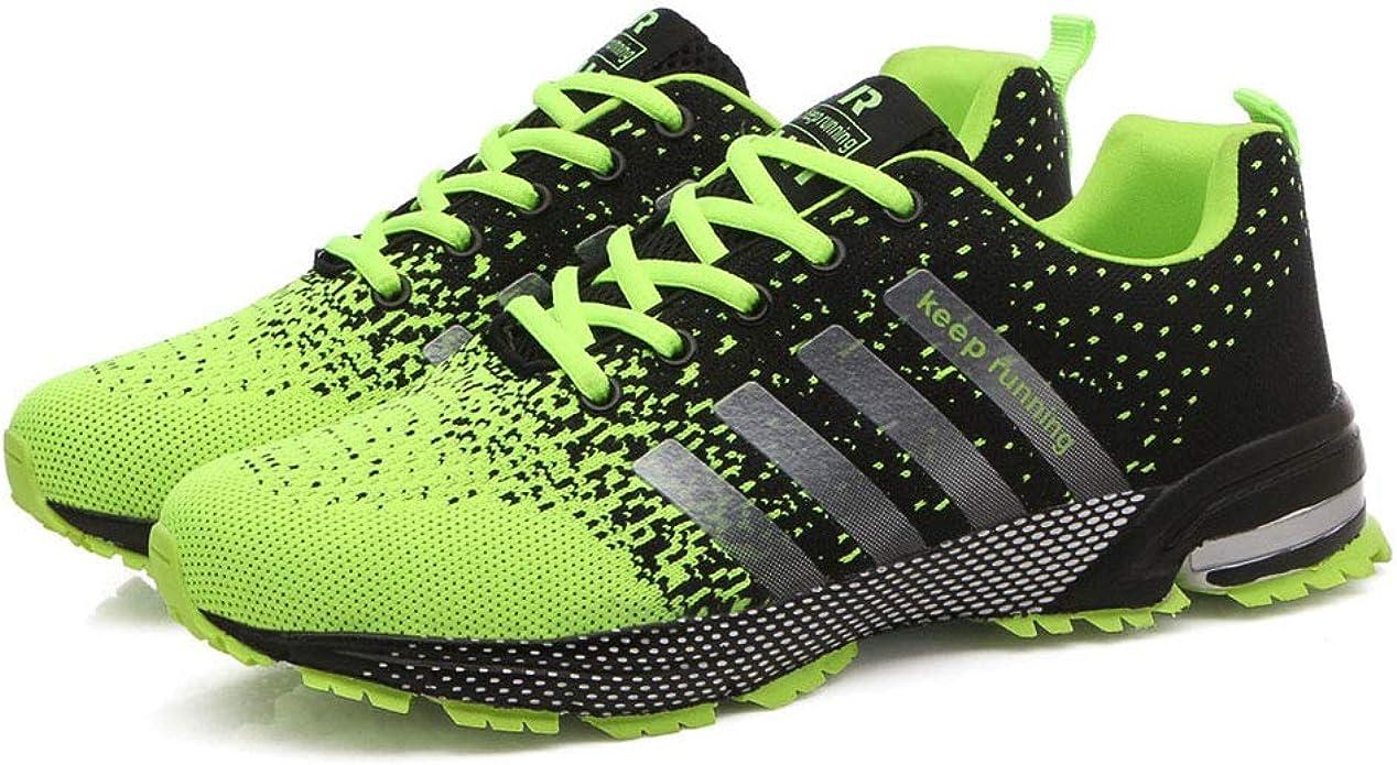 Goalsse - Zapatillas de Running de Caucho para Hombre, Color Verde ...